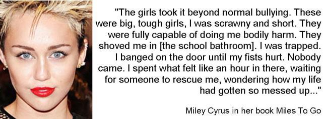 MileyCyrusBullyingQuote