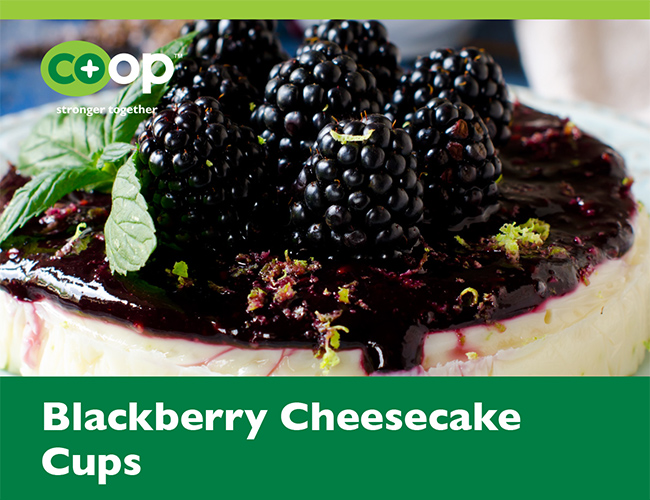 Blackberry Cheesecake Cups